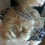 40er Haare Hochsteckfrisur