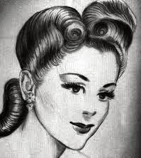 40er frisur anleitung 1940ies hairstyles selbst kreieren retrochicks. Black Bedroom Furniture Sets. Home Design Ideas