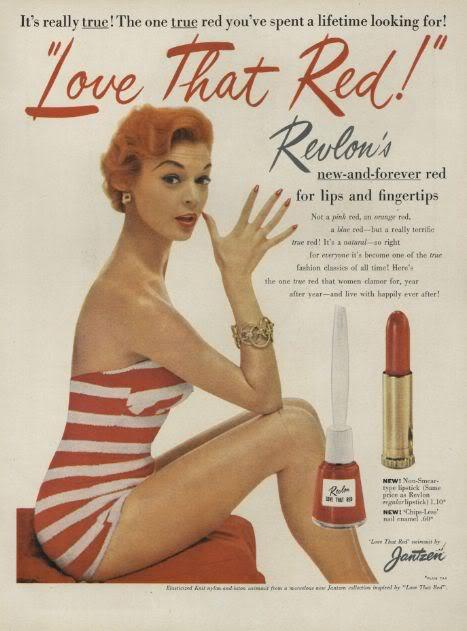 Revlon Lippenstift Anzeige 1964