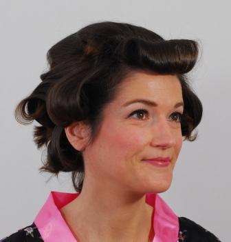 Hochsteckfrisuren lockige haare