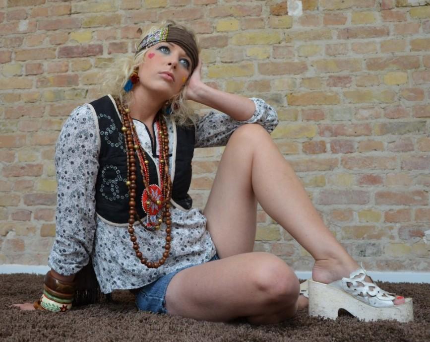 Hippie Makeup Frisur Tutorial 60er Flower Power