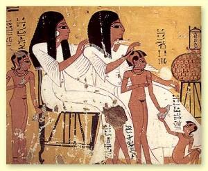 Haare weg im alten Ägypten