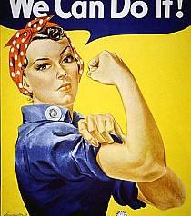 40er Frisur Tutorial – Kopftuch Rosie the Riveter