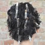 Das hier ist die Locken Grundlage für sechs Frisurvariationen für langes Haar im Stil der fünfziger Jahre, die ich im Blog vorstelle.