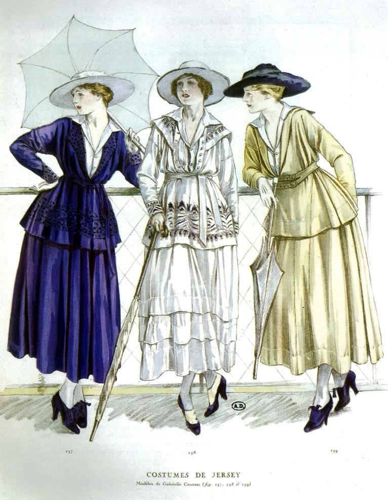 1910 1919 Titanic Chanel Max Factor Ballet Russes Retrochicks