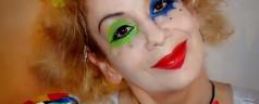 Clown Schminken & Kostüm – Harlekin