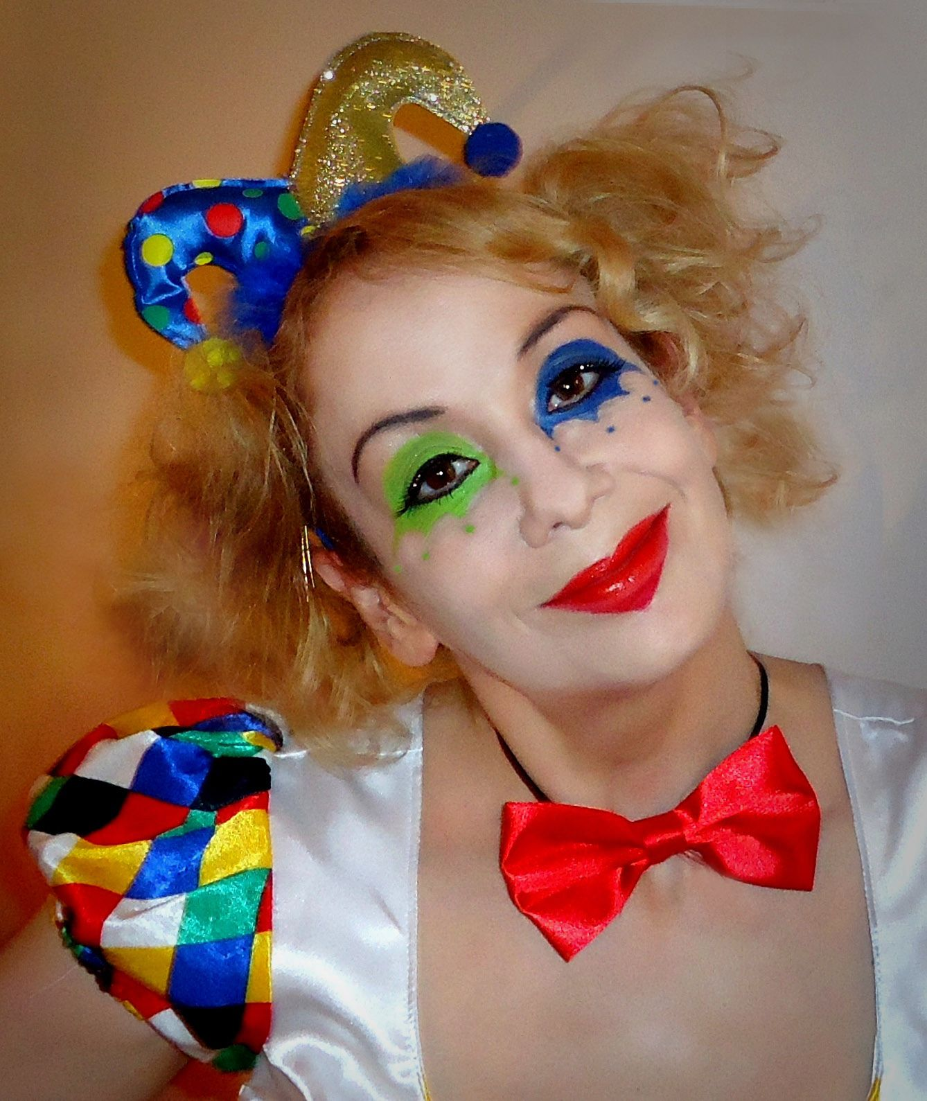 Clown Schminken Kostüm Harlekin Retrochicks