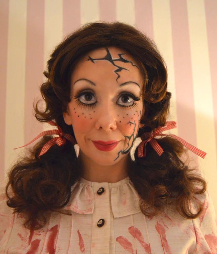 Vintage Halloween Kostum Gruselpuppe Horror Puppe Retrochicks