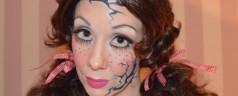 Vintage Halloween Kostüm Gruselpuppe Horror Puppe