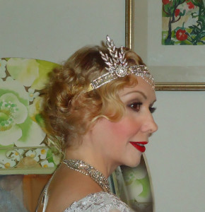 20er Frisur Gatsby Tiara